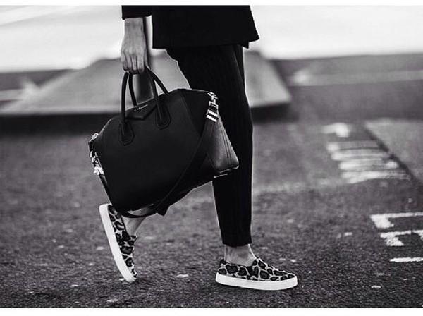 shoes black white black and white panter panterprint