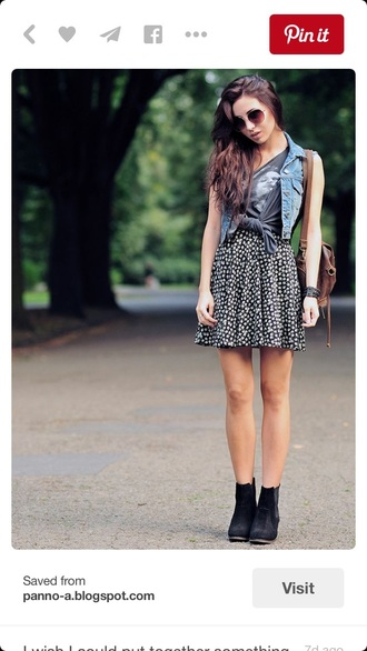 dress mini black grunge