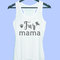 Fur mama tank top dog paw grey tunic dress or white tank **racerback tank top size s m l xl