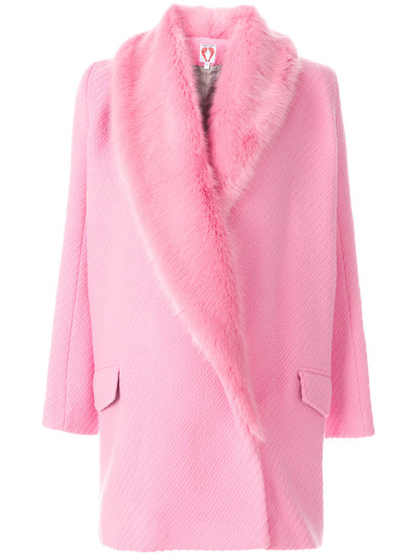 Shrimps coat women wool purple pink