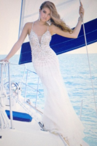dress white dress prom dress ball gown glitter dress