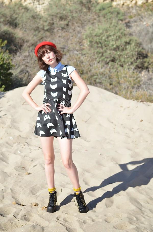 a fashion nerd dress socks jewels hat