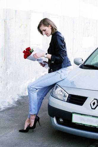 katiquette blogger jeans jacket t-shirt shoes jewels