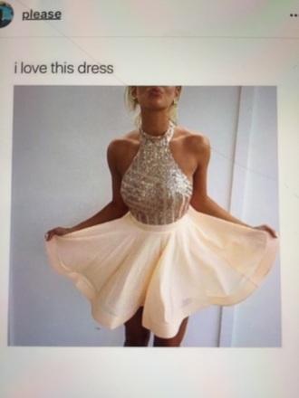 dress peach dress party dress