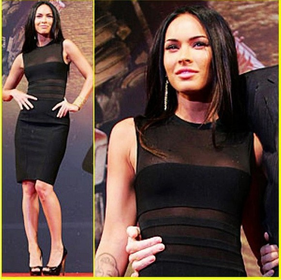 dress megan fox black sexy black dresses