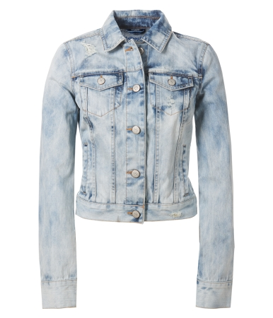 Cloud Wash Destroyed Denim Jacket -