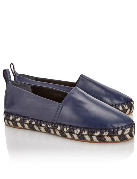 espadrilles leather navy blue