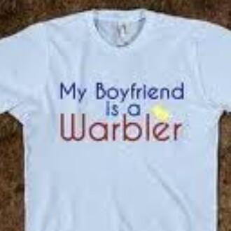 glee riker rikerlynch warblers shirt