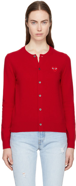 Comme Des Garcons Play cardigan cardigan heart red sweater