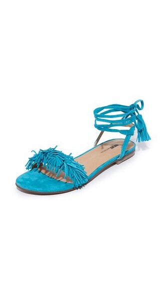 sandals flat sandals turquoise shoes