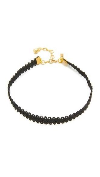 necklace choker necklace lace black black lace jewels