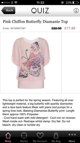 top butterfly quiz pink