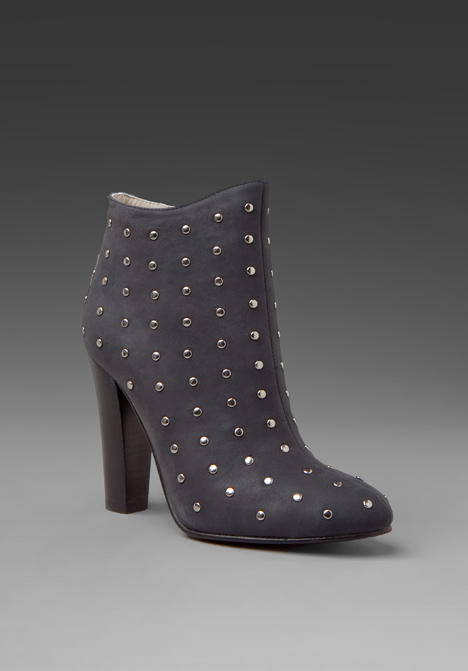 Candela stud short cloti bootie in black at revolve clothing