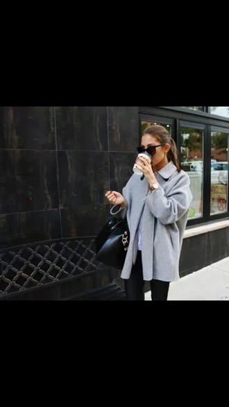 coat grey glamour love