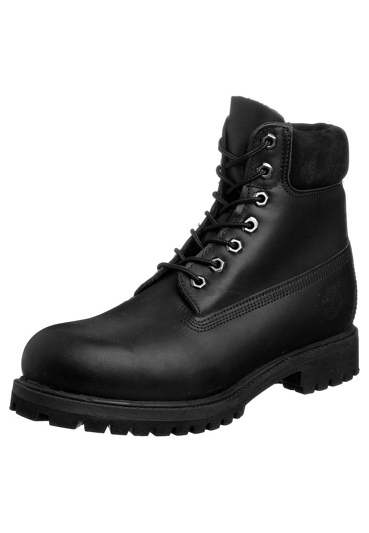 Timberland 6 IN PREMIUM BOOT - Schnürstiefelette - black smooth - Zalando.de