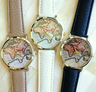 belt whatch world map