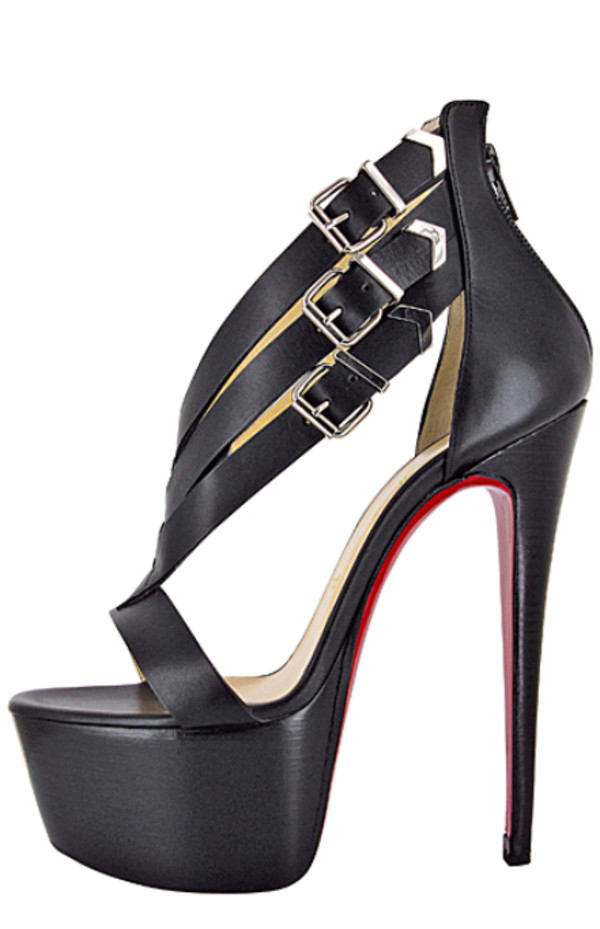 heels strappy name brand louboutin