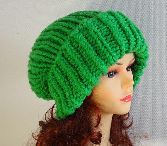 Super Slouchy Beanie  2 Big Slouch Baggy Hat Winter Women ... 6d286e36090