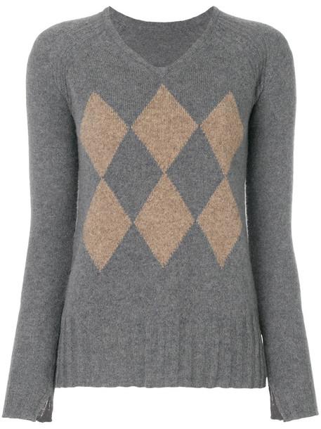 sweater women pattern grey