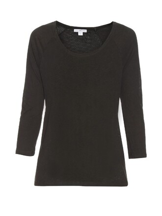t-shirt shirt cotton dark grey top