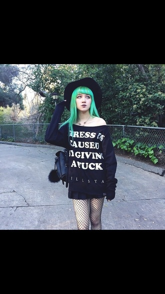 sweater black cute pastel goth goth help hell gothic gothic grunge black sweater goth pastel tights