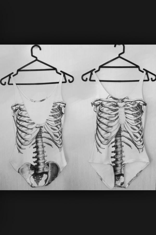 romper skeleton black black bbjk black skeleton bones help? hipster leotard black skeleton bones grunge halloween