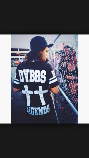 shirt black and white black t-shirt white t-shirt dvbbs crosses