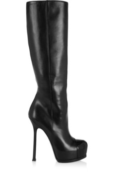 Tribtoo leather and patent knee boots | THE OUTNET