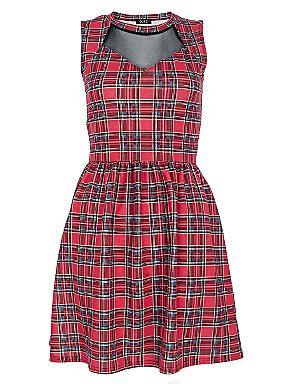 Quiz Red tartan skater dress Red - House of Fraser
