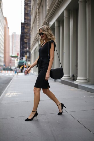 memorandum blogger dress shoes jewels bag sunglasses pumps black dress shoulder bag summer outfits