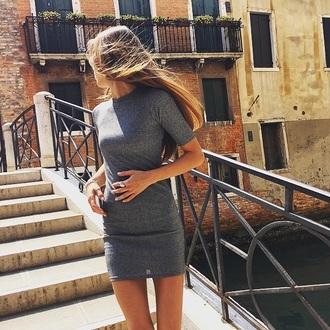 dress gray bodycon dress
