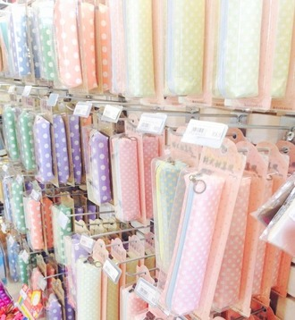 home accessory pastel pencil case kawaii accessory kawaii stationary