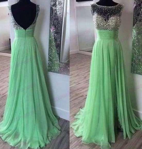 prom dress prom long prom dresses lime green