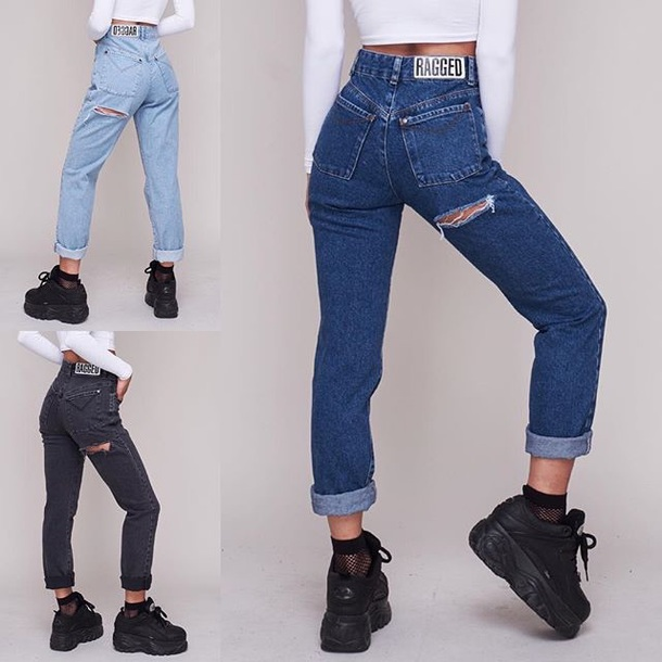 jeans ragged ragged clothing jeans boyfriend jeans mom jeans navy blue navy jeans blue jeans
