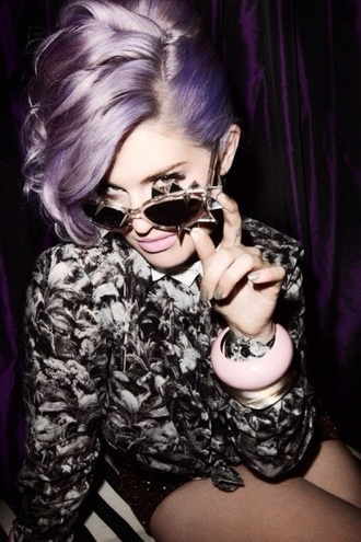 sunglasses spikes kelly osbourne kelly osbourne grunge