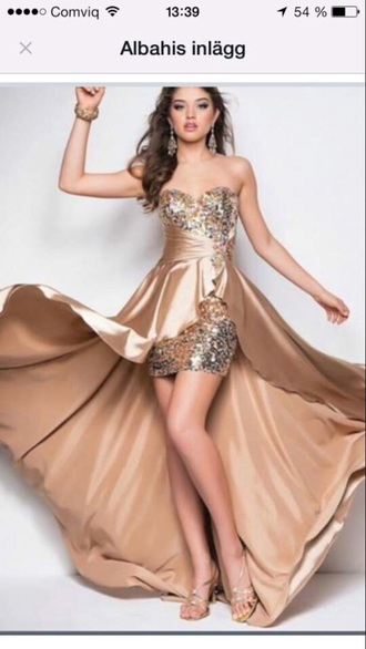dress gold gold dress long dress prom dress cute cute dress