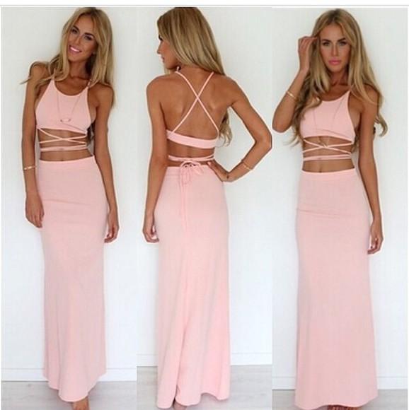 pink dress pastel pink dress maxi dress pink dess