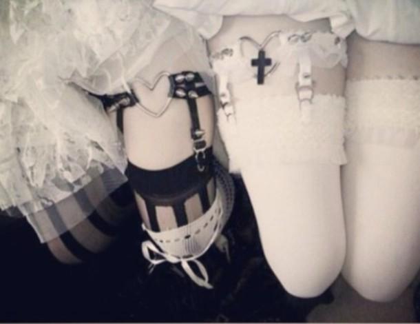 socks hot garter goth