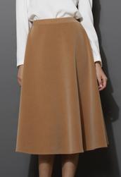skirt,wool-blend,midi,camel