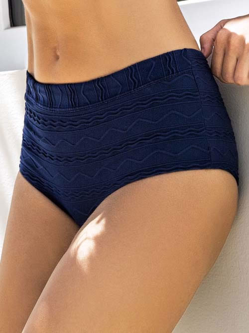 Navy high waisted bikini