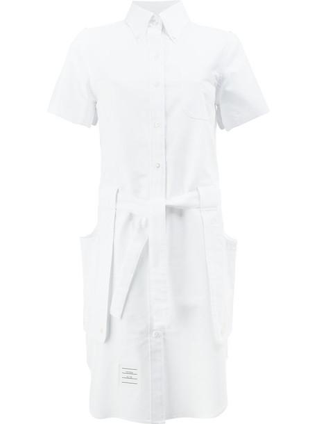Thom Browne dress shirt dress women white cotton