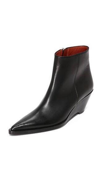 wedge booties booties black shoes