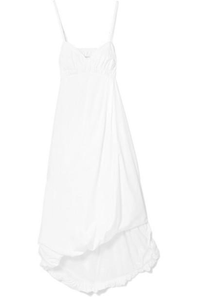 3.1 Phillip Lim - Shirred Cotton-poplin Midi Dress - White