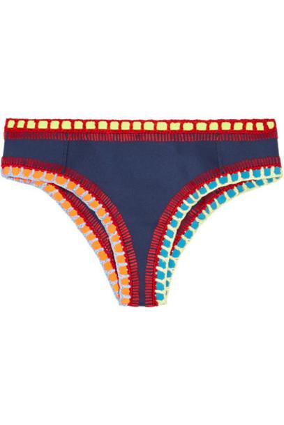 bikini navy crochet swimwear
