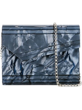 candy clutch blue bag