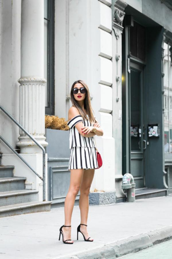wendy's lookbook blogger romper shoes bag sunglasses
