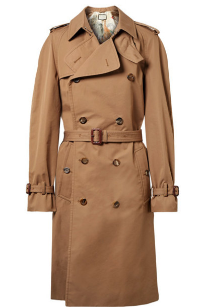 gucci coat trench coat cotton