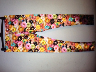 donut food colorful foodporn jeans esty www.esty.com food clothing dounuts barbie leggins+ leggings sportswear yoga pants