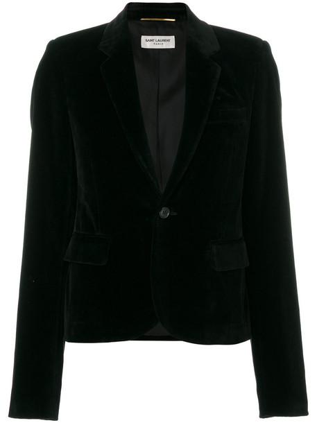 Saint Laurent blazer women classic cotton black silk jacket