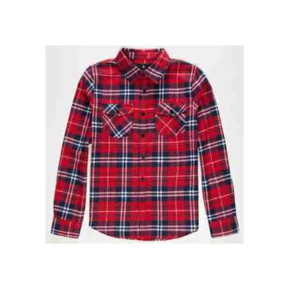 blue white flannel red cute flannel shirt